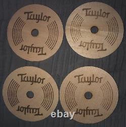 Taylor Guitars Coasters Set (4) Wooden Acoustic Guitar Holes Namm 2018 Nouveau