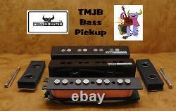 Tone Monster Tmjb4 J Style Bass Guitar Pickup Set Neck Bridge Alnico V