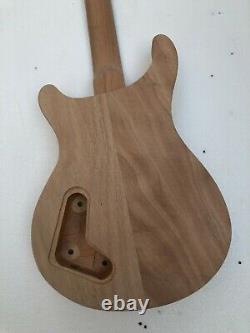 Unfinished 1 Set Kit De Guitare Électrique Corps Et Cou Acajou 22fret Pour Le Style Prs