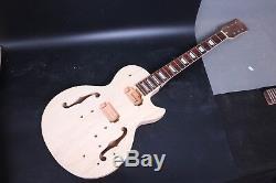 Unfinished 1régler Acajou Corps Guitare + Guitare Électrique Cou Diy Projet Guitare