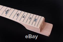Unfinished Set Acajou Corps De La Guitare + Cou Fit Diy Projet De Guitare Électrique / Pièces