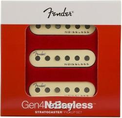 Véritable Fender Gen 4 Noiseless Stratocaster / Strat Guitar Set De Ramassage Blanc Aged
