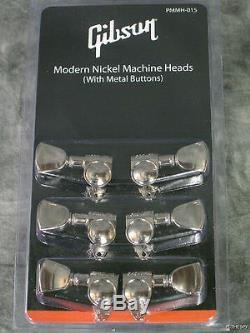 Véritable Gibson Grover Nickel Tuners Set 6 Cordes Tuning Guitar Machine Parts
