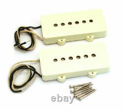 Véritables Fender Pure Vintage'65 Jazzmaster Guitar Pickups Set Aged White